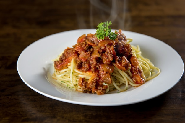 Italiaanse spaghetti met bolognese vleessaus