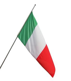 Italiaanse vlag geïsoleerd