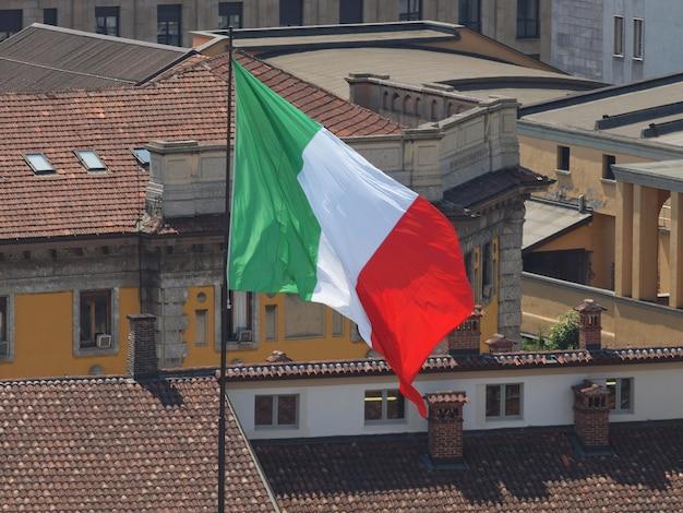 Italiaanse vlag van italië
