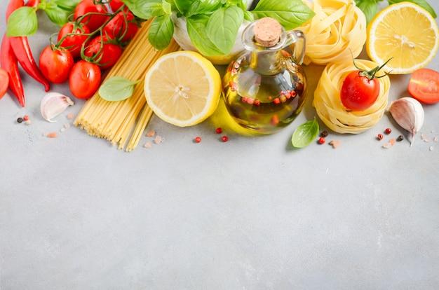 Italiaanse voedselingrediënten