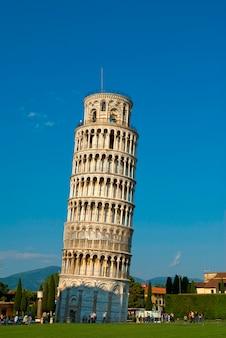 Italië, toscane, pisa, scheve toren van pisa