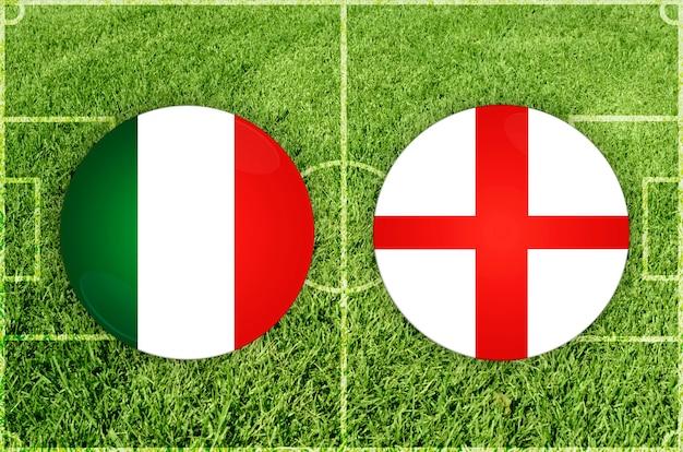 Italië vs engeland voetbalwedstrijd