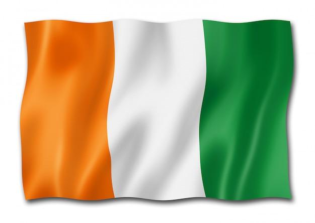 Ivoriaanse vlag geïsoleerd
