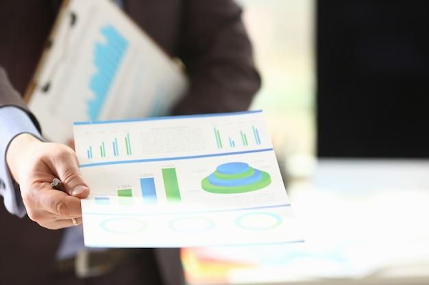 Jaarlijkse belastingbetaling die bedrijfsopbrengsten analyseert