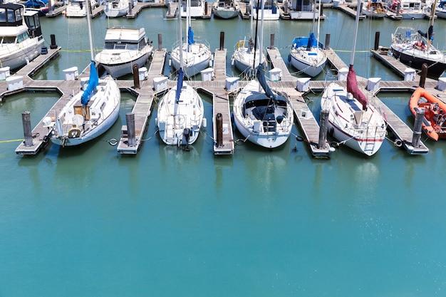 Jachten in de haven van san francisco