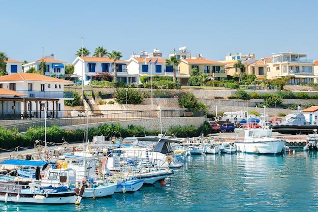 Jachthaven in protaros, cyprus.