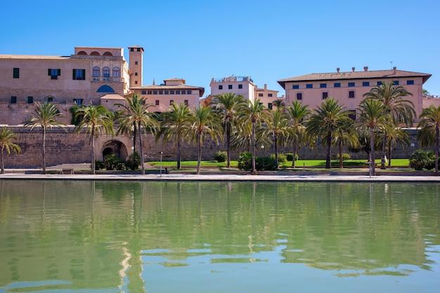 Jachthaven van de stad palma de mallorca, balearen.
