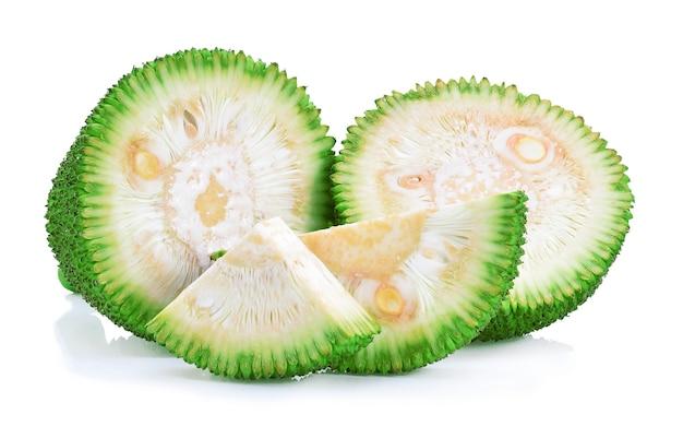 Jackfruit geïsoleerd op een witte achtergrond