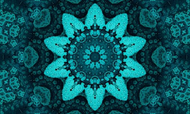 Jade bloem. geometrische kussen. seafoam azteekse ikat achtergrond. olijf etnische naadloos.
