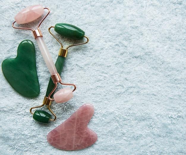 Jade gezichtsroller voor schoonheidsbehandeling voor gezichtsmassage