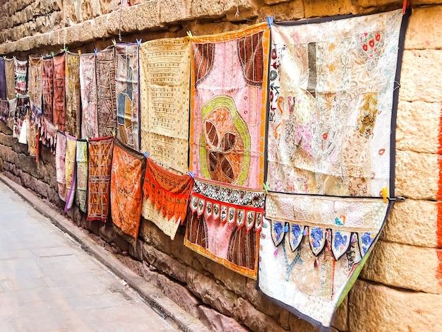 Jaisalmer india street-winkel in het fort van jaisalmer