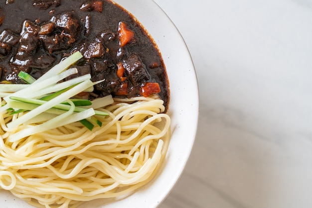 Jajangmyeon of jjajangmyeon is korean noodle with black sauce - korean food style