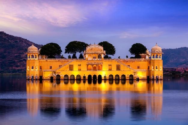 Jal mahal (waterpaleis). jaipur, rajasthan, india