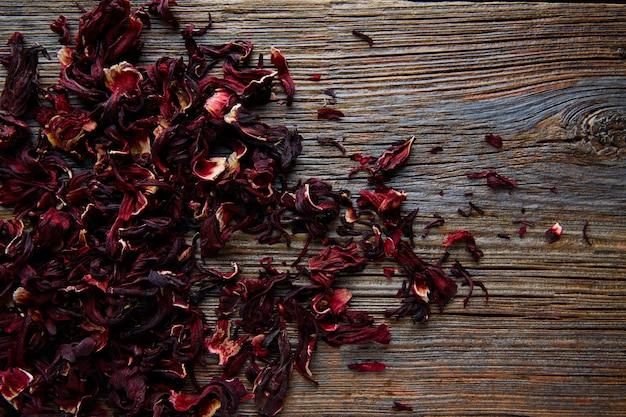 Jamaica bloem voor kruiden ijsthee uit hibiscus
