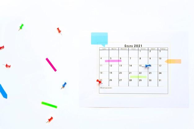 Januari 2021 planning top vew