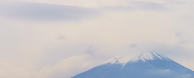 Japan zonsondergang boom fuji puntige