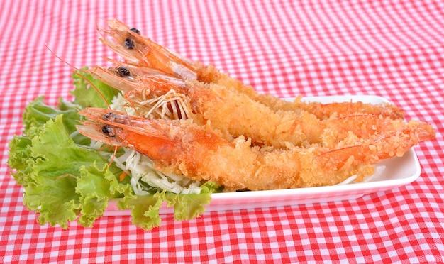 Japans eten - gefrituurde tempura garnalen