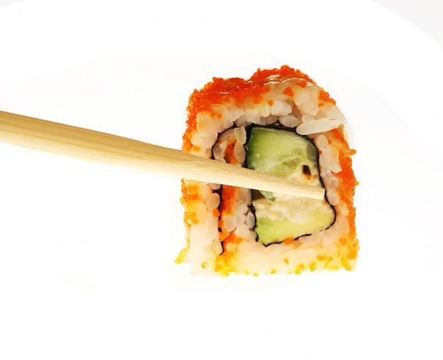 Japans eten geïsoleerd op wit