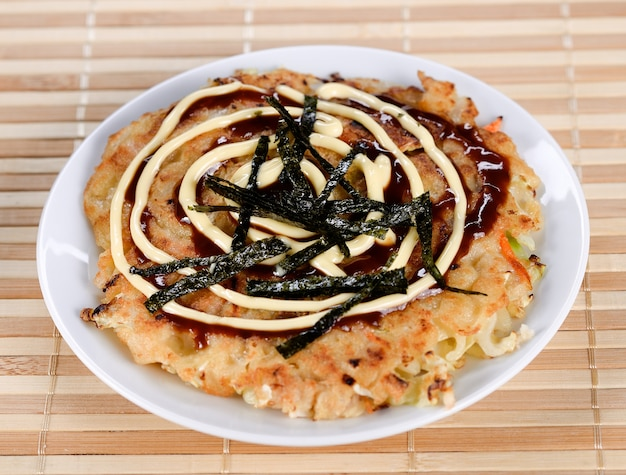 Japans eten okonomiyaki, japanse pizza