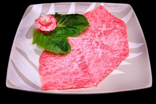 Japans wagyu shabu-rundvlees.