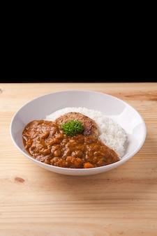 Japanse curry met varkensvlees en rijst