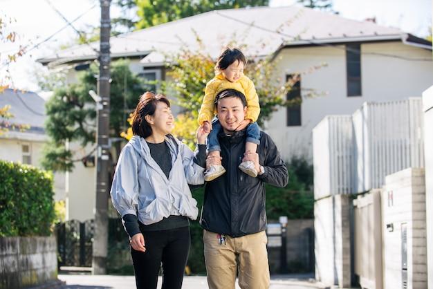 Japanse familie in tokio