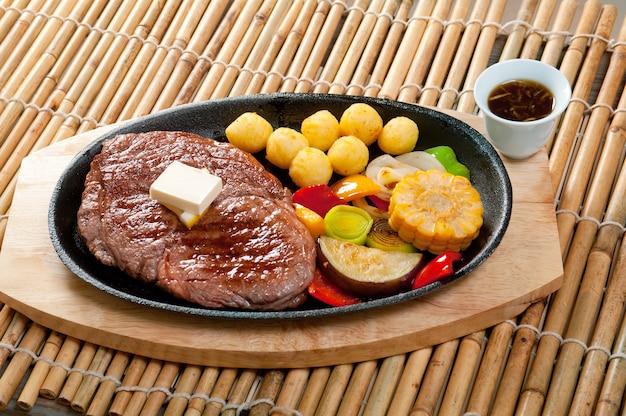 Japanse keuken japans gemarmerd rundvlees gebraden
