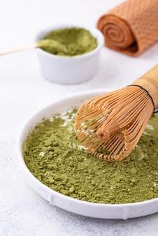 Japanse matcha groene thee poeder