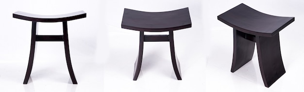 Japanse traditionele houten stoel azië kruk
