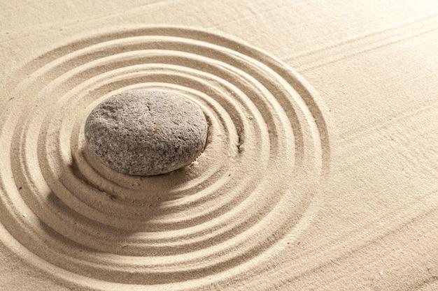 Japanse tuin zen steen