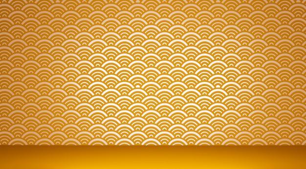 Japanse vloer en muurachtergrond als achtergrond.