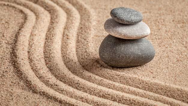 Japanse zen-steentuin