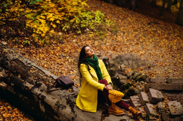 Jas emotie oktober goudgeel