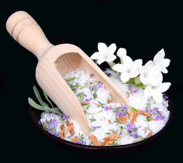 Jasmijnbloemen en badzout