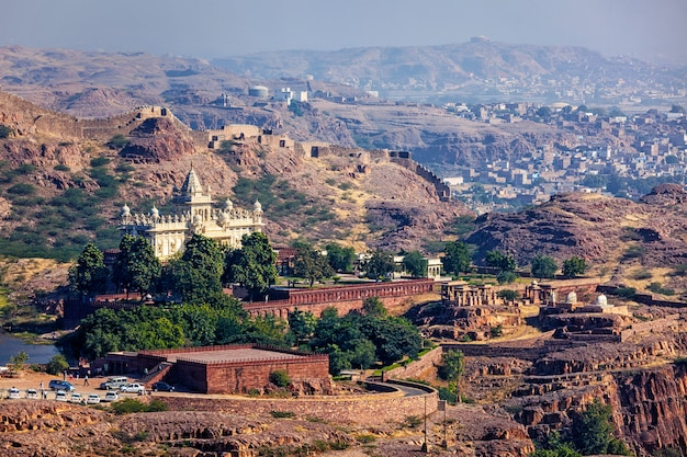 Jaswanth thada mausoleum, rajasthan, india