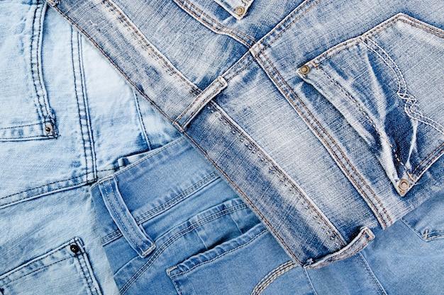 Jean-achtergrond, textuur van denim de blauwe jean,