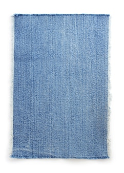 Jeans blauwe textuur op witte achtergrond