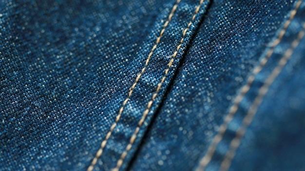 Jeans denim textuur close-up, focus slechts één punt, zachte blured achtergrondbehang
