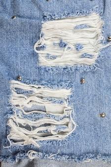 Jeans gescheurde denim textuur.