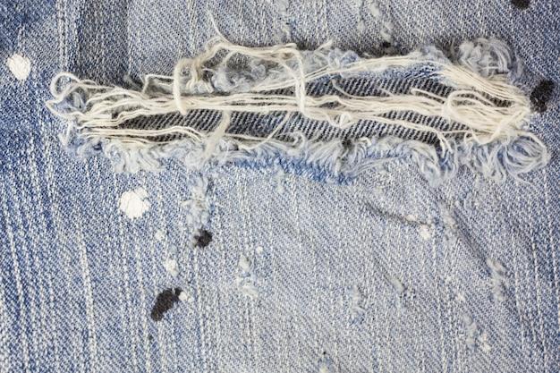 Jeans gescheurde denim textuur. Premium Foto
