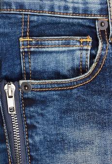 Jeansachtergrond met zak