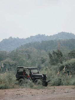 Jeep auto in de savanne