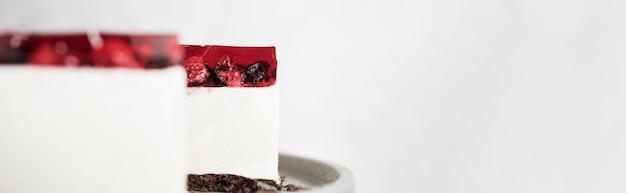 Jelly cake frame met kopie-ruimte