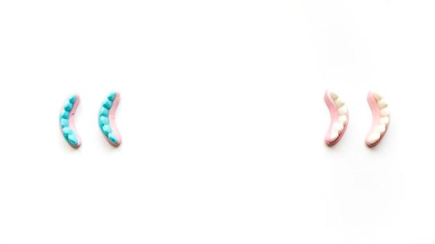 Jelly-teeth voor halloween-viering