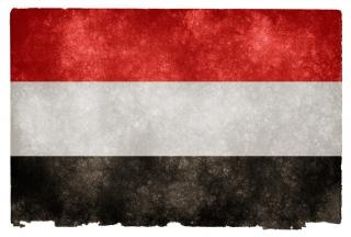 Jemen grunge vlag jemen