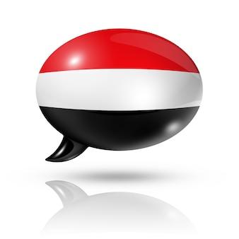 Jemen vlag tekstballon
