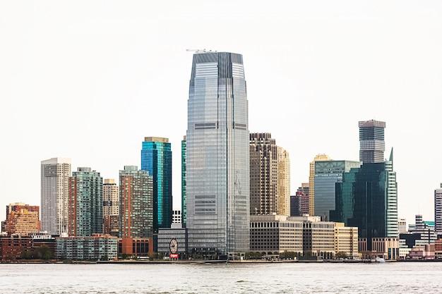 Jersey city en rivier de hudson