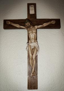 Jezus aan het kruis, de kerk