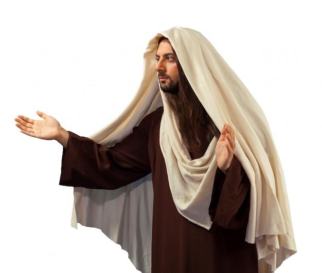 Jezus christus met open armen