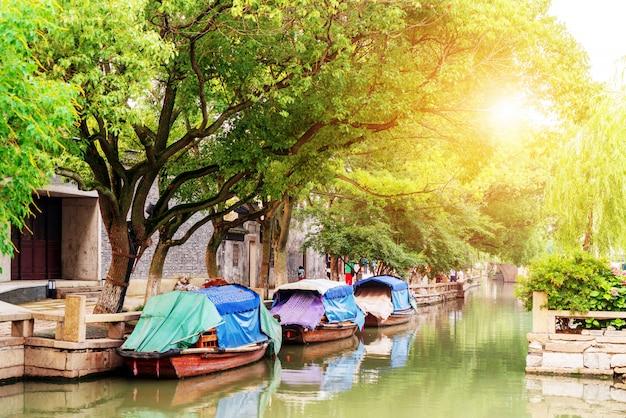 Jiangsu zhouzhuang-landschap